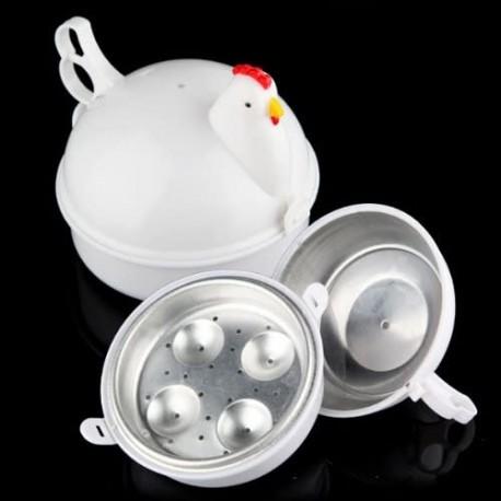 Gallina Para Cocción De Huevos En Microondas.